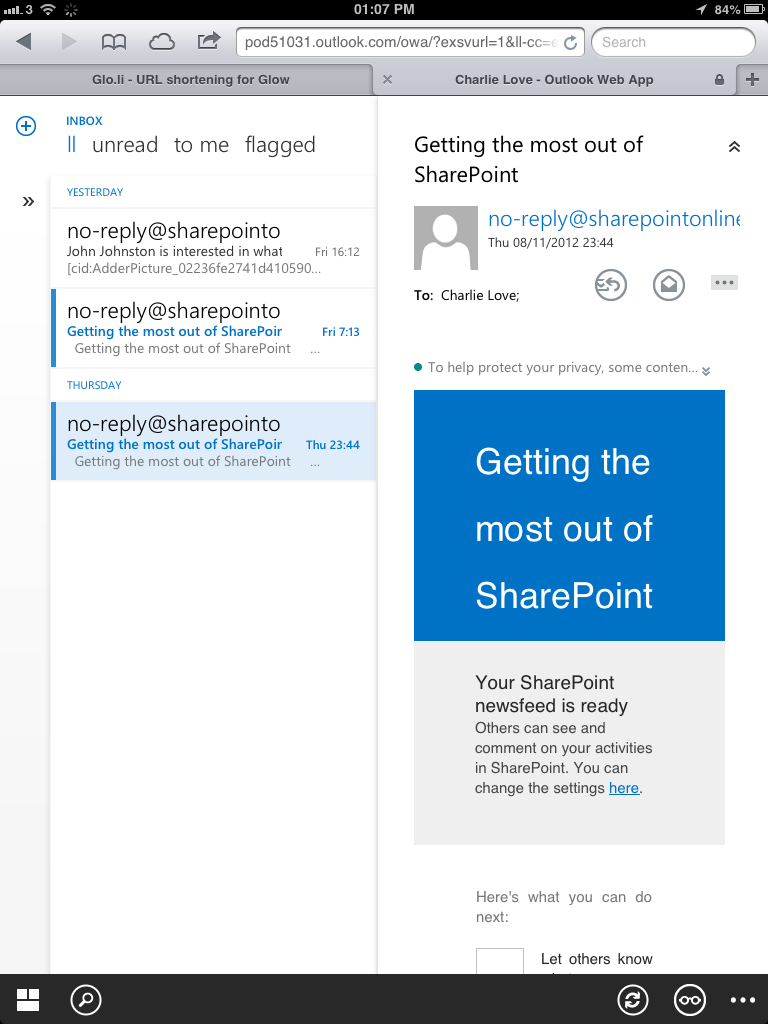 Office 365 / Wave 15: Mobile support – Charlie Love org