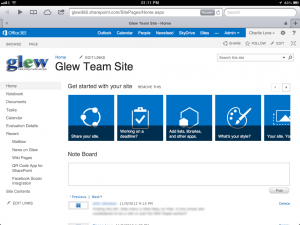 On iPad: Sharepoint looks pretty good and is reasonably usable.