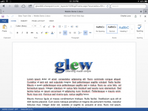 Editing a Word Document is well supported on iPad/iOS