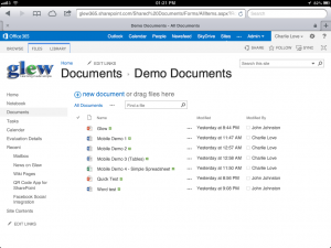 Our Testing Document Library on iPad