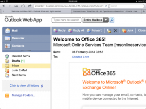 Outlook Web App - Zoomed