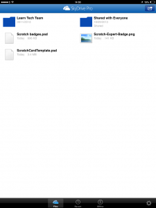 Skydrive Pro on iPad for Glow