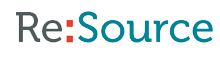 Re:source Logo